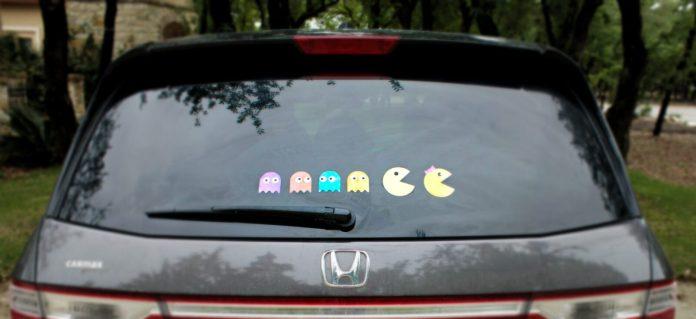 Pac-man car decals diy