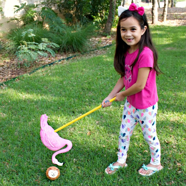 "Entertain family and friends with an ""Alice in Wonderland"" inspired flamingo croquet set.  This fun craft is easy to make and fun to play with."