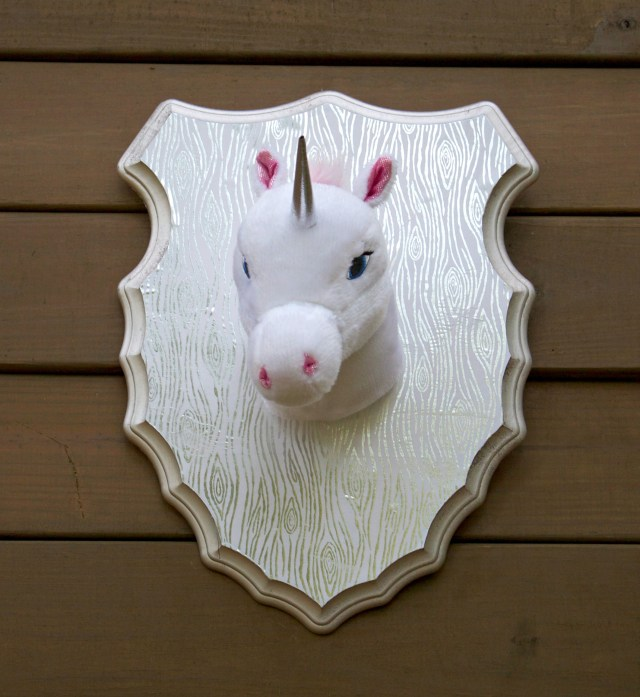 Make unicorn taxidermy to add some humor to your decor