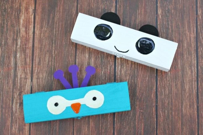 Make animal face pencil boxes.