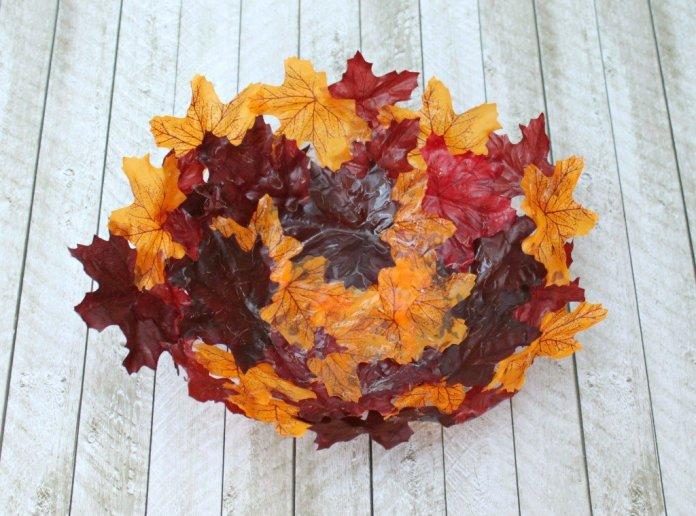 how to make a DIY leaf bowl