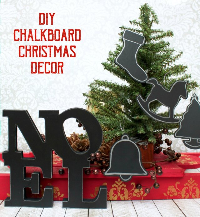 Create elegant chalkboard Christmas decor quickly and easily. Customized elegant decor for your home this holiday season!