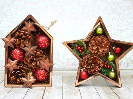 Make Christmas shadowbox ornaments to give as gifts.
