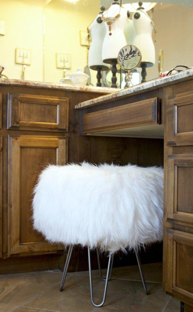 furry stool tutorial Mid Century Modern Stool Tutorial