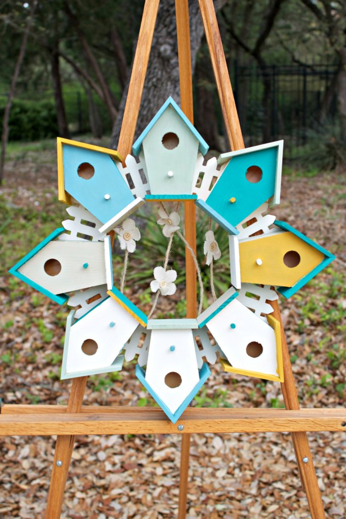 birdhouse wreath tutorial