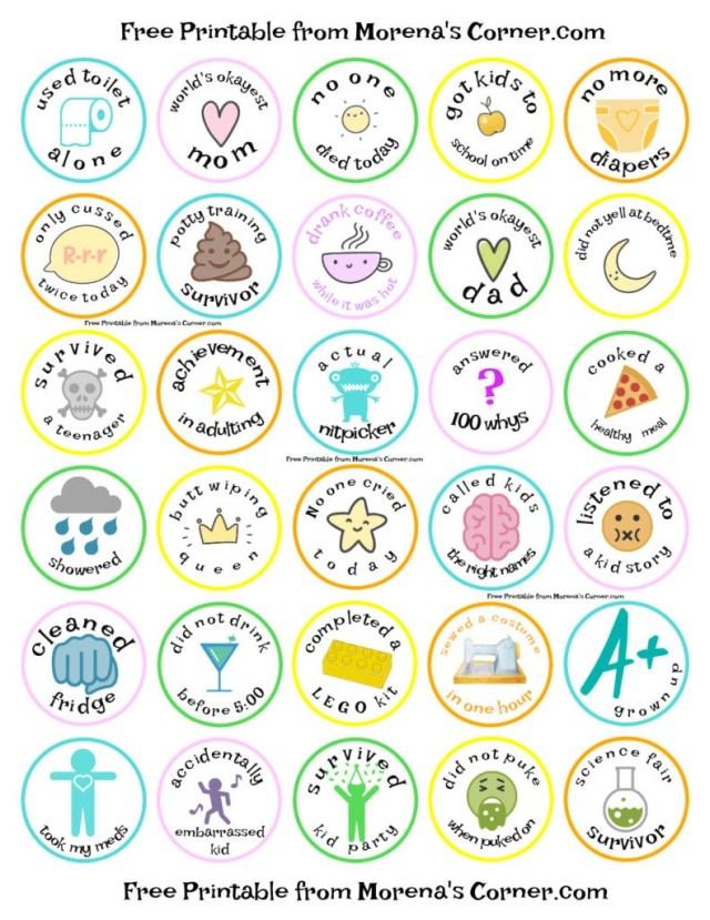 Print merit badges for parents.