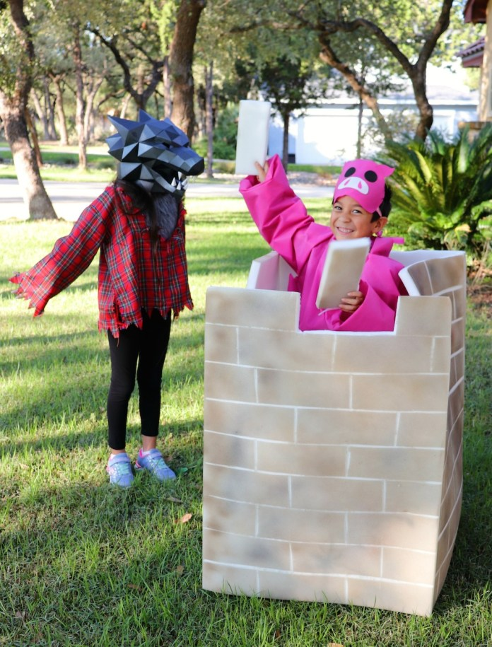 little pig brick house costume