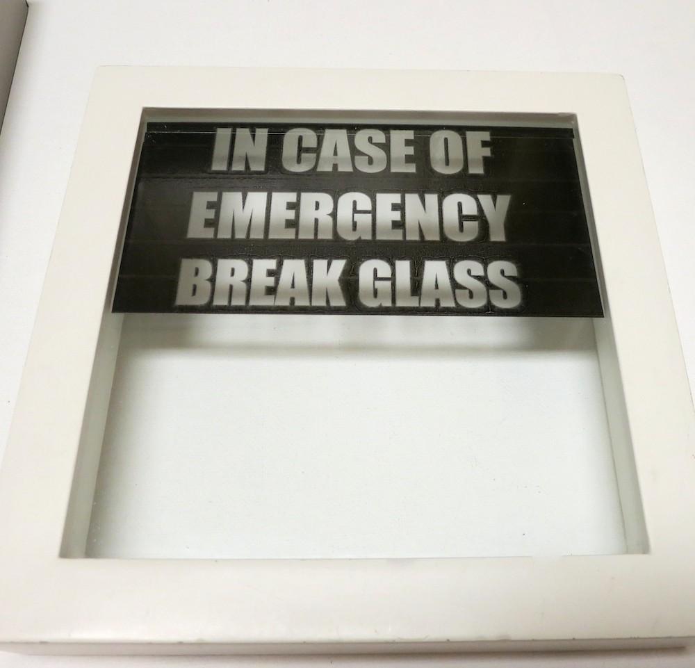 picture regarding In Case of Emergency Break Glass Printable called Crack Gl inside of Situation of Crisis Sweet Decor - Morenas Corner