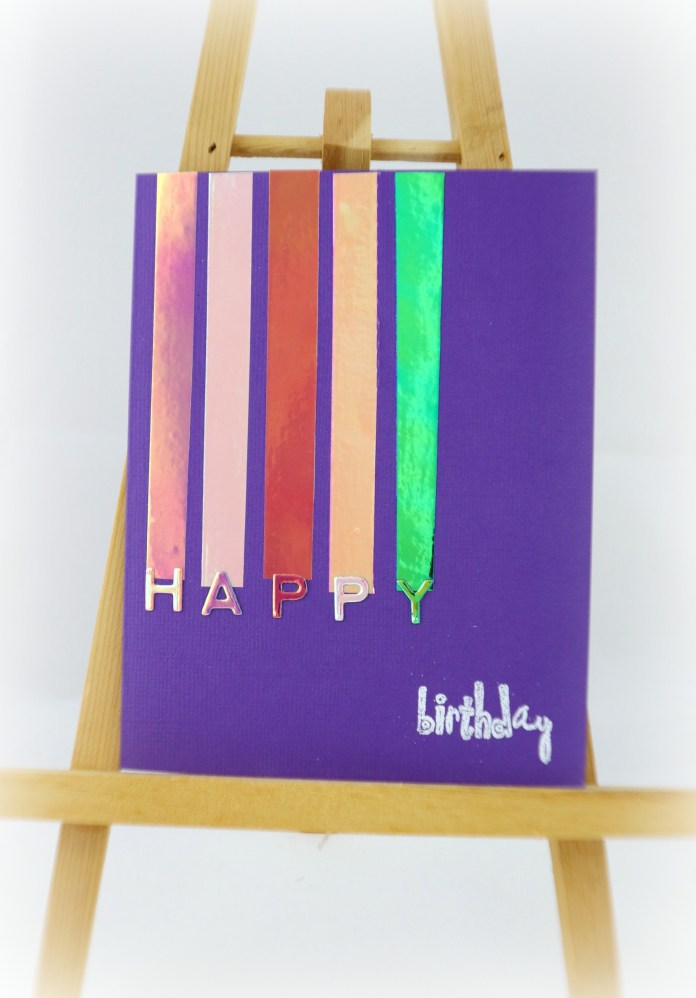 DIY Foil Cards Made Using Opal Vinyl