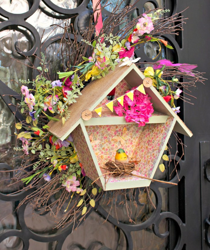 birdhouse wreath tutorial
