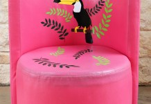 Vinyl Toucan Chair Tutorial: Fun Summer Seat