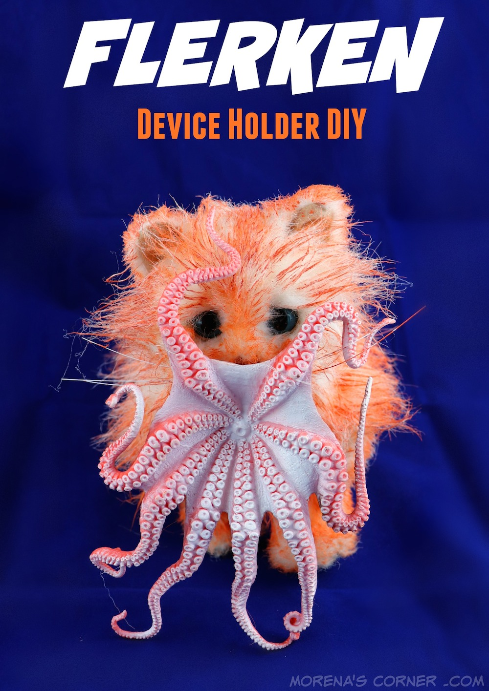 This geek craft is inpired by the new Captain Marvel movie. Make a cute Flerken DIY device holder using items from Goodwill.