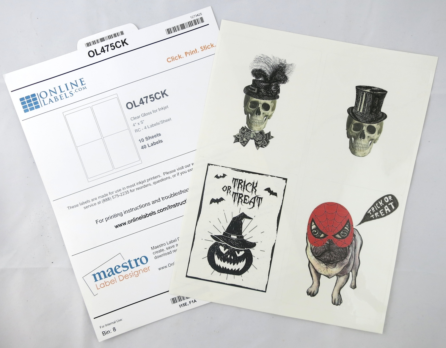 graphic regarding Clear Printable Labels named Halloween Crystal clear Labels: Spooky Cost-free Printable Initiatives