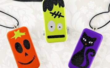 Halloween domino pendants