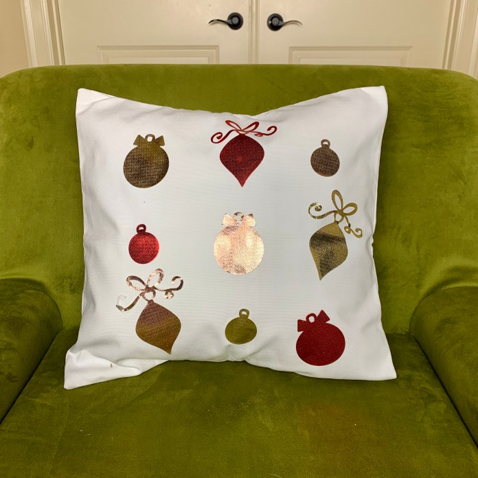 foil pillow DIY