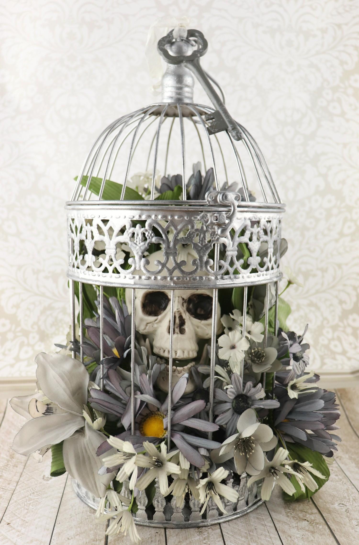 skulls and flowers decor