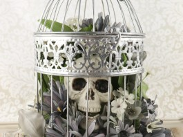 skulls and flowers decor