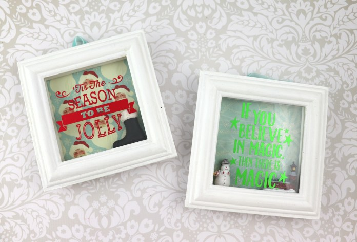 Christmas holiday shadow box tutorial