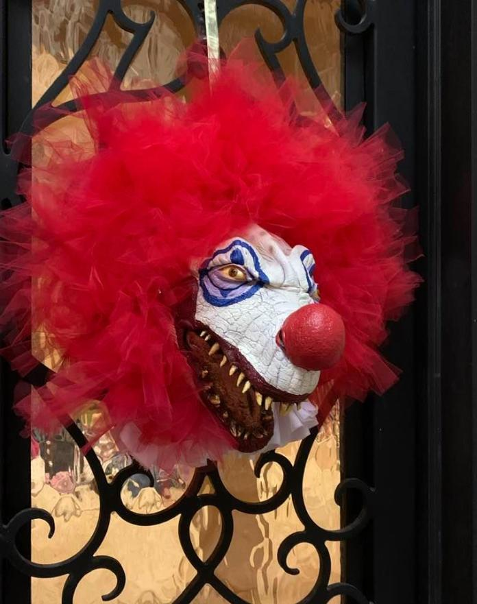 creepy clown wreaths