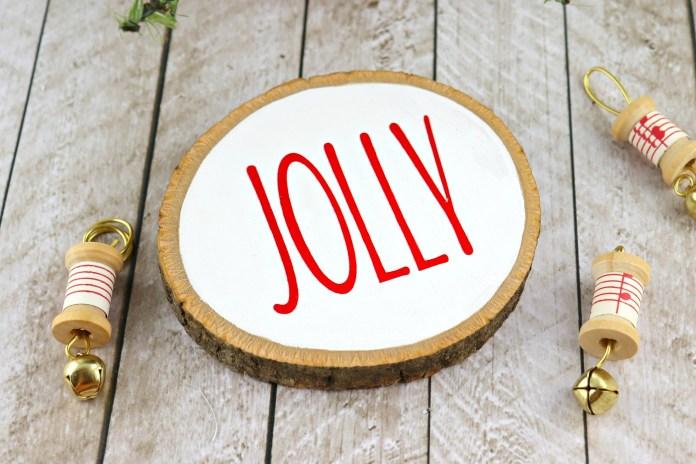 wood round ornament DIY