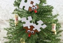 Reindeer Puzzle Ornaments Tutorial