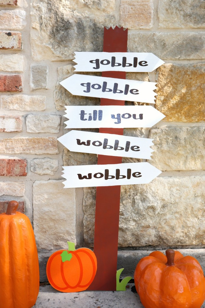 thanksgiving sign diy