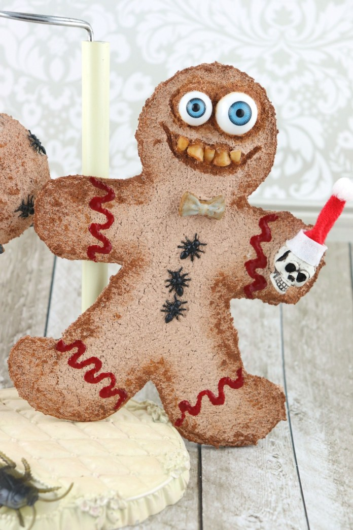 Creepy gingerbread man tutorial