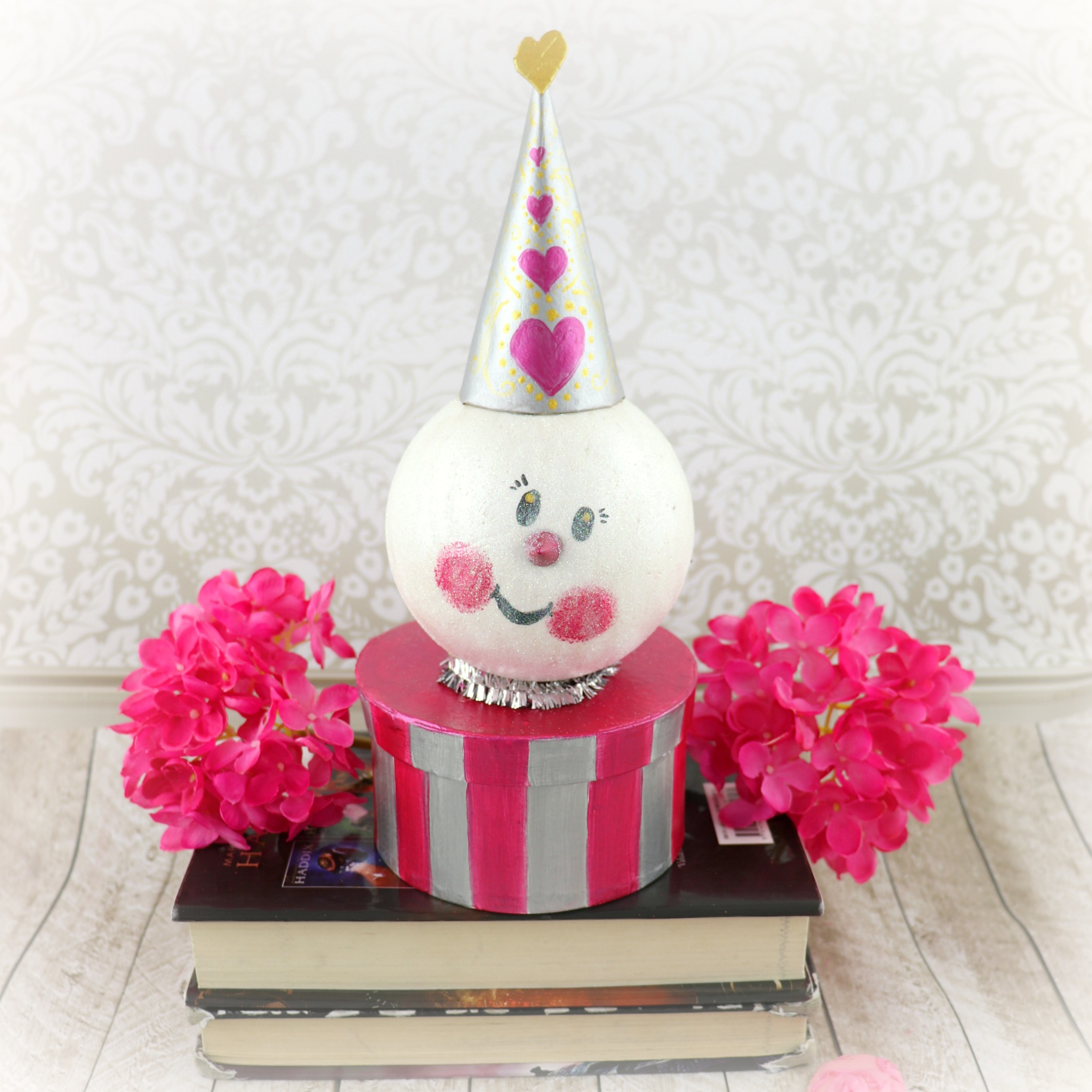 make a snowman valentine box for school