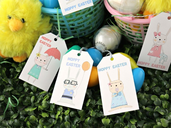 hoppy easter printable tags