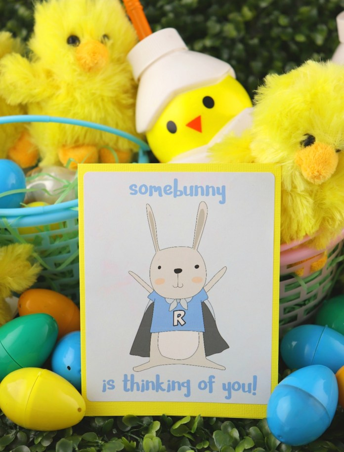 printable easter bunny card