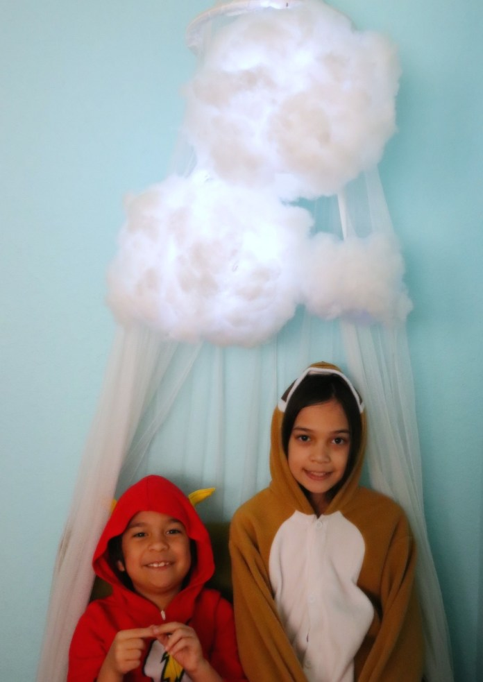 cute cloud light DIY for decor