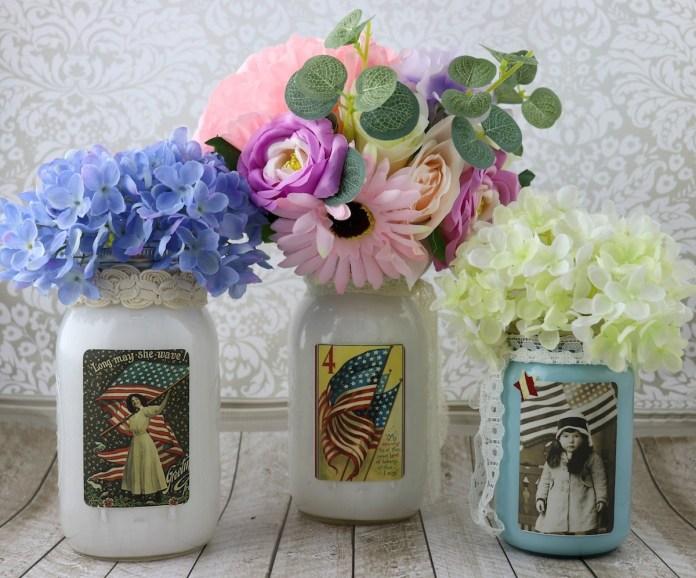 mason jar centerpiece independence day