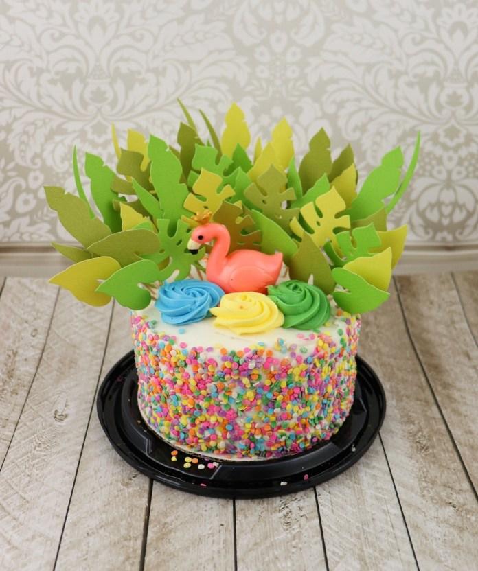 make a tropical cake topper