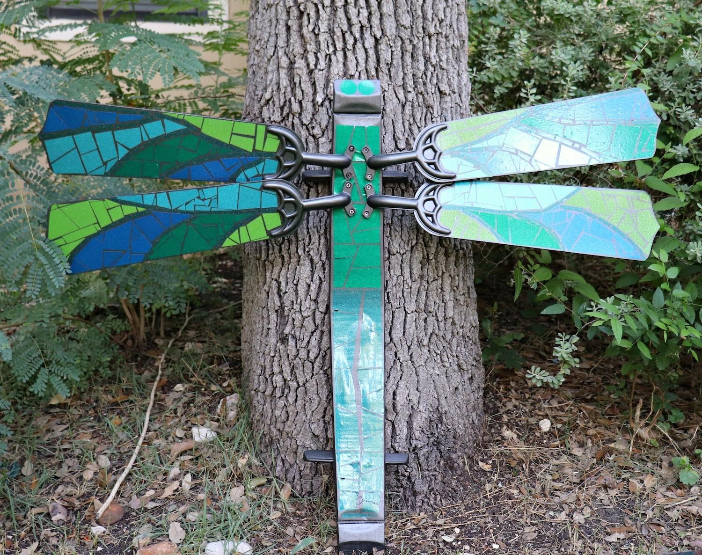vinyl mosaic dragonfly fan blades