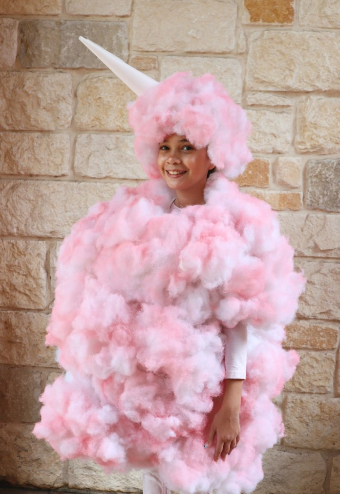 how to make a cotton candy costume for Halloween