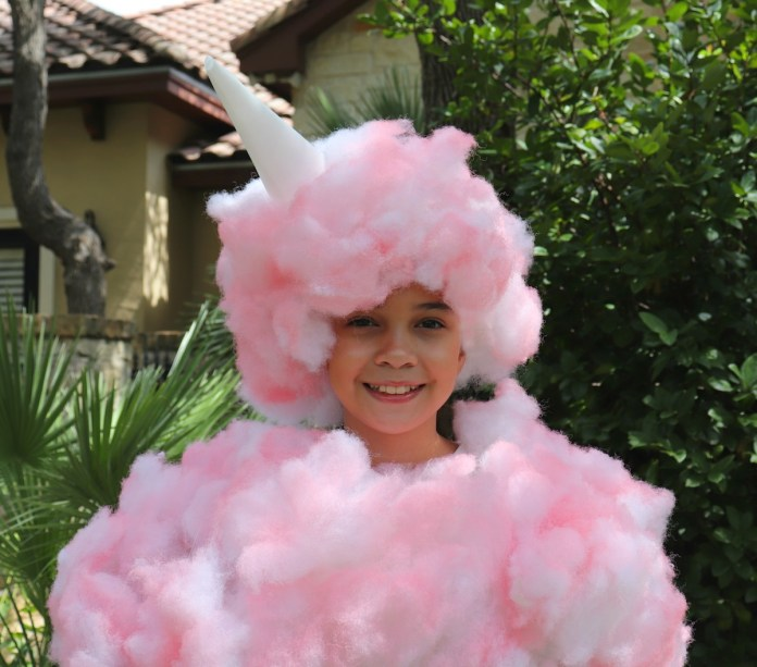 cotton candy costume DIY