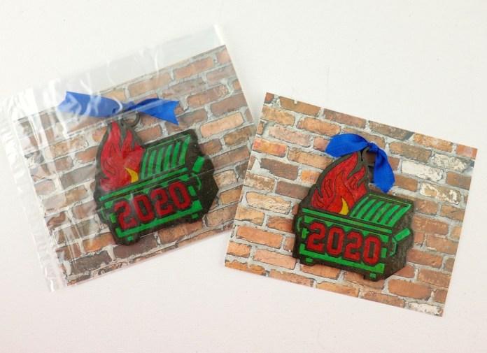 2020 dumpster fire ornaments