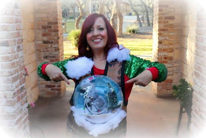 how to make and ugly sweater with a giant snow globe