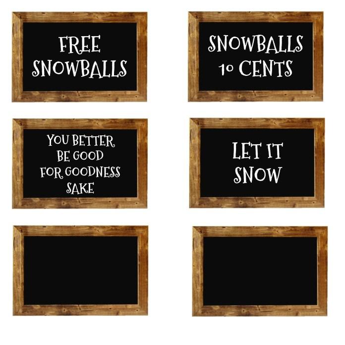 snow ball printable