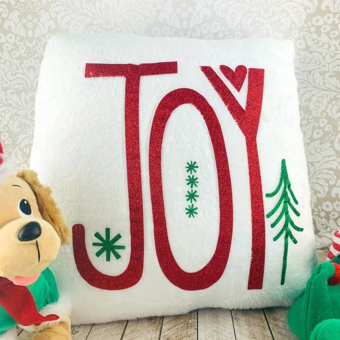 Joy pillow DIY christmas decor