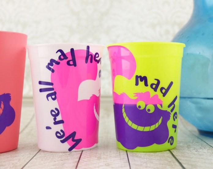 cheshire cat vinyl on cups