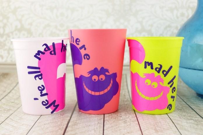 Color change vinyl on cups