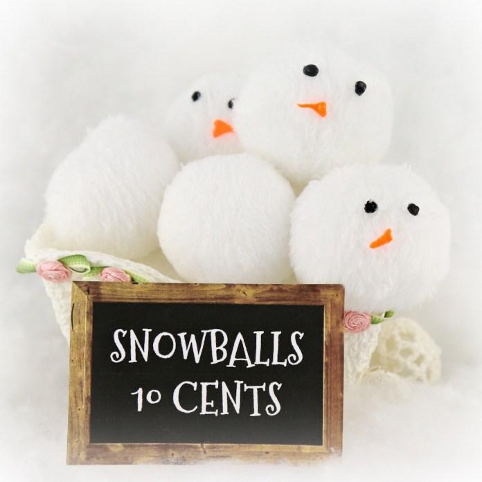 DIY fabric snowball bucket plush snowballs tutorial