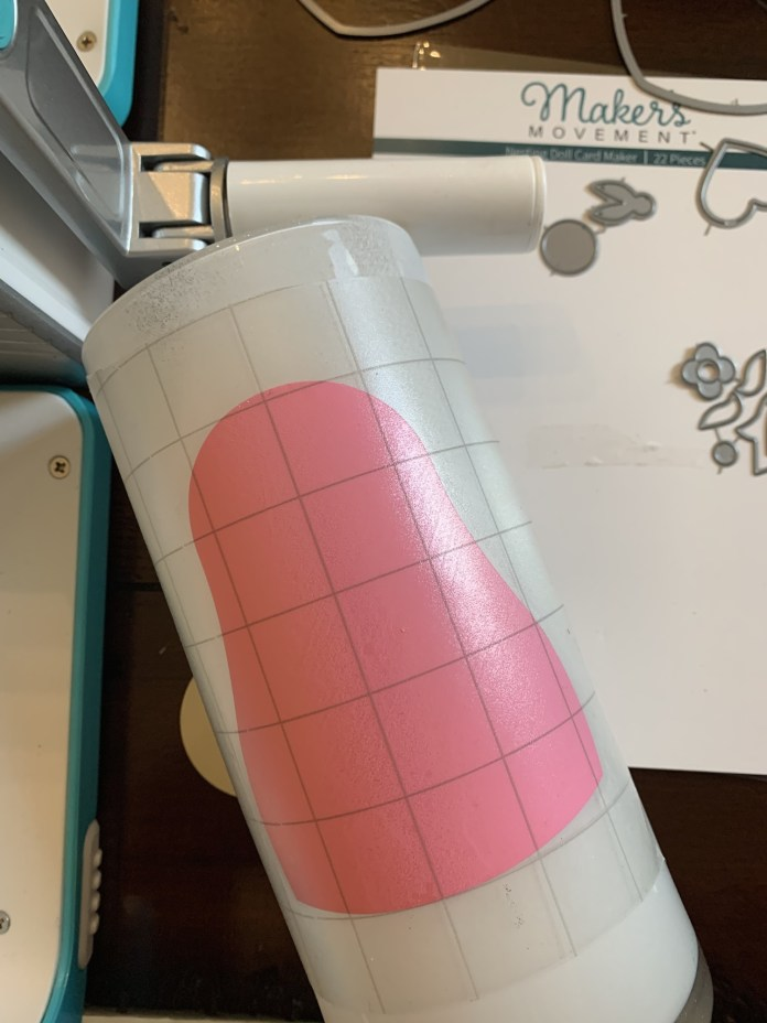 transfer tape vinyl on vase