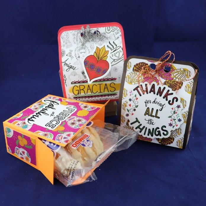 make gift boxes to say thanks