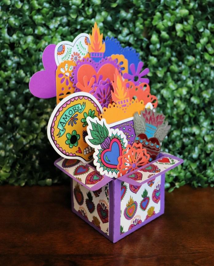corazon hearts exploding card box