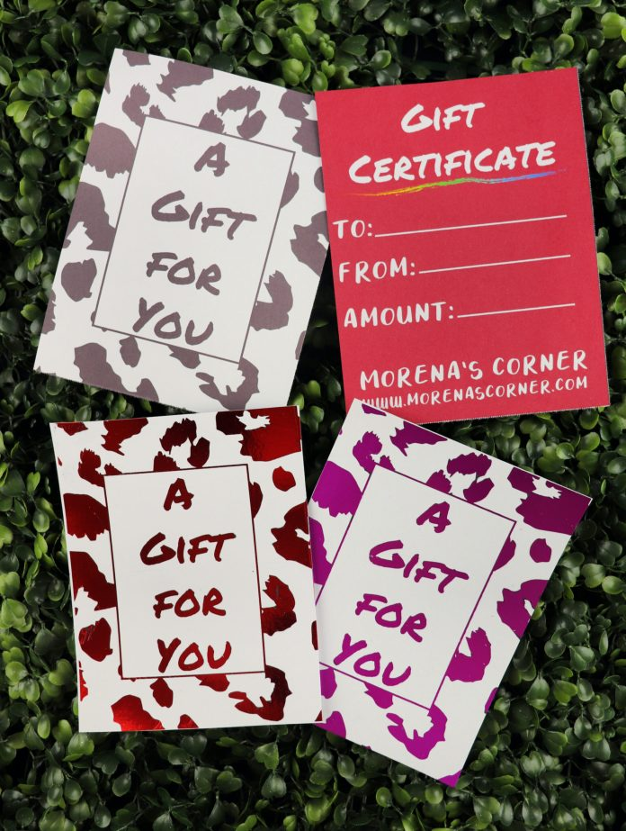 templates for gift cards