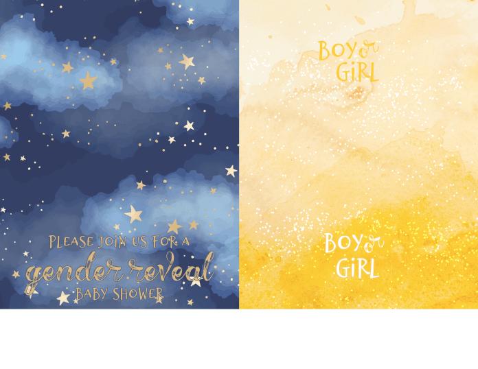 free printable gender reveal card