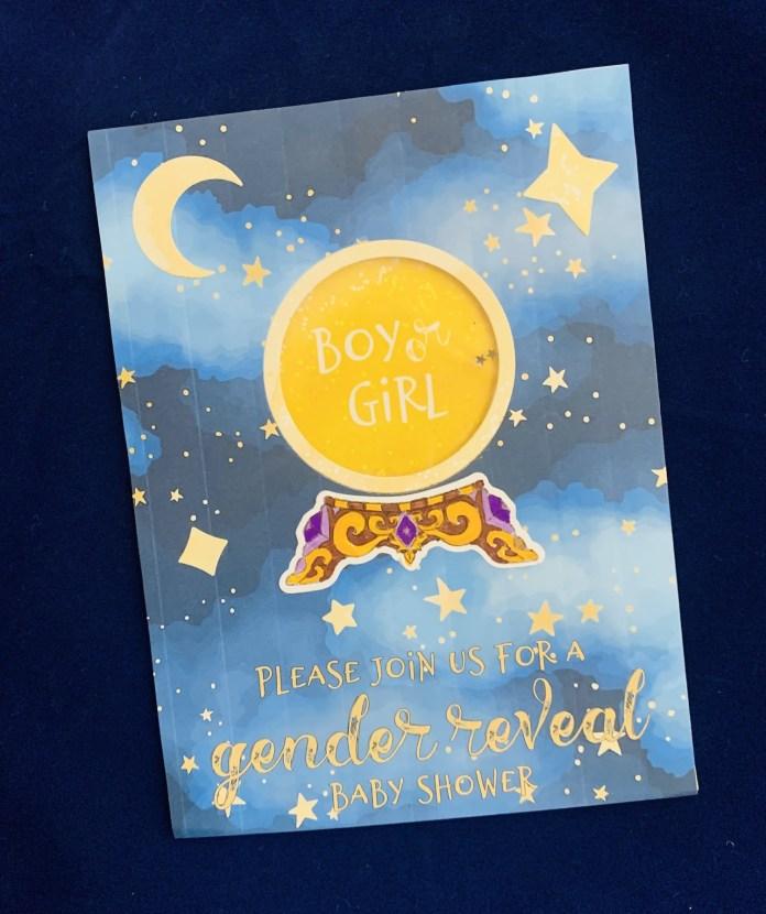 gender reveal card