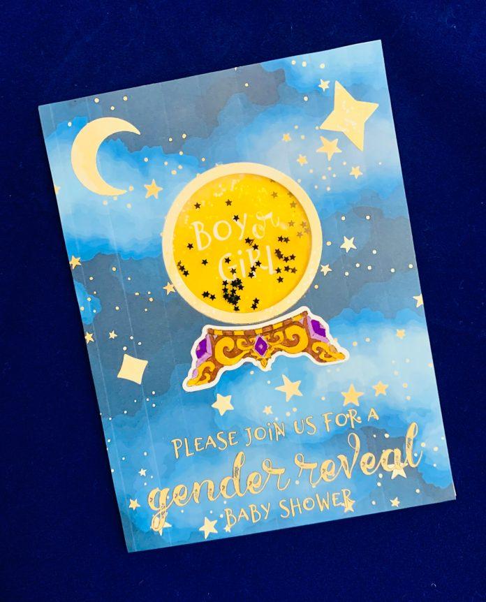 crystal ball shaker card